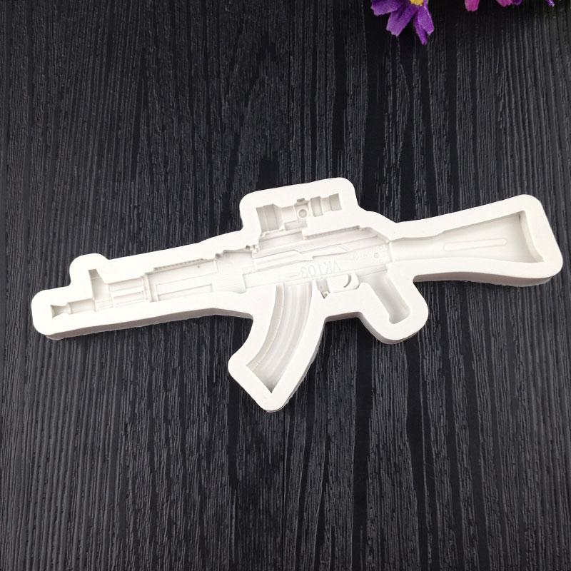 49E1-Creative-Cute-DIY-Machine-Gun-Silicone-Fondant-Molds-Baking-Tools-Moulds