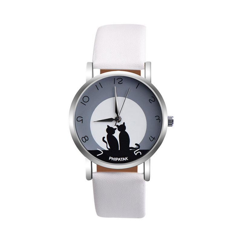 56C5-Women-Lady-Cat-Leather-Strap-Quartz-Watch-Casual-Jewelry-Wristwatch-Gift