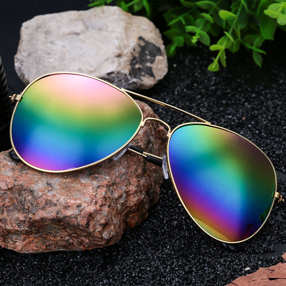 A488-Unisex-Colorful-Plating-Films-UV400-Glasses-Sunglasses-Frog-Mirror-Decor