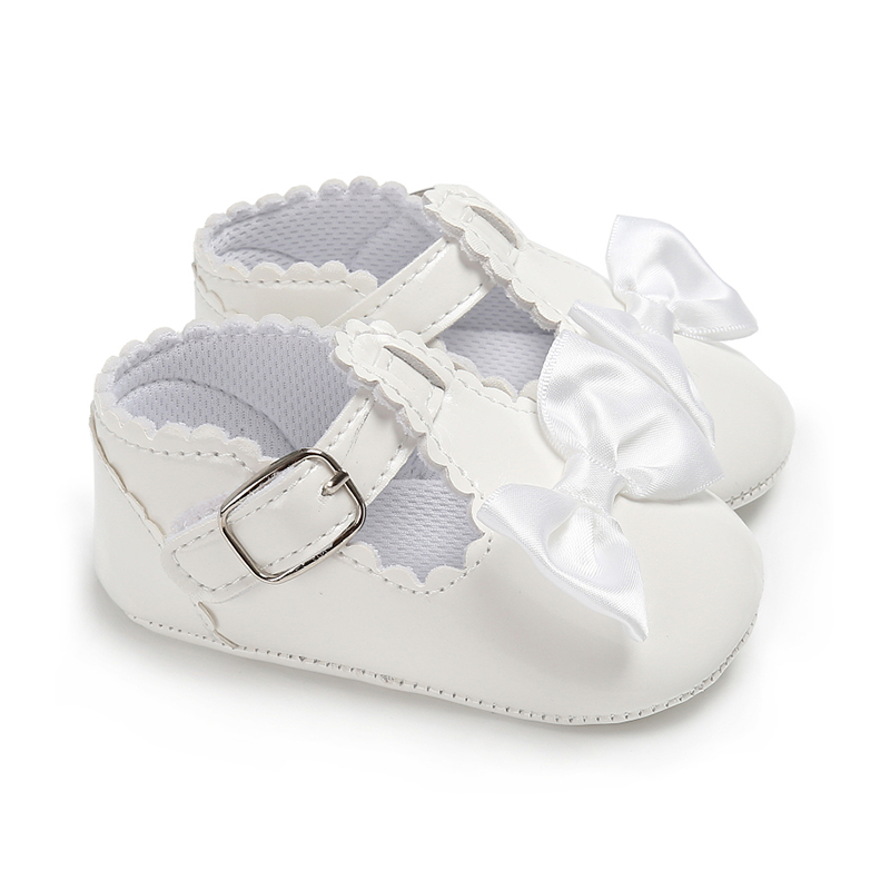 46D4-Baby-Girl-Princess-Bowknot-Anti-Slip-First-Walker-Casual-Overshoes-Shoes