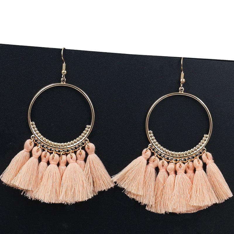 44E3-Retro-Bohemia-Long-Tassel-Big-Circle-Earrings-Jewelry-For-Lady-12-Colors