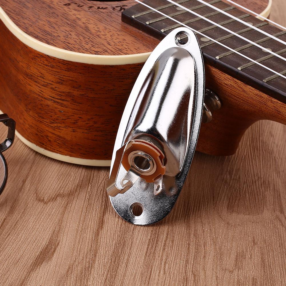BDF0-Electric-Guitar-Output-Jack-Plate-Socket-Plug-Boat-Shaped-Metal-For-START