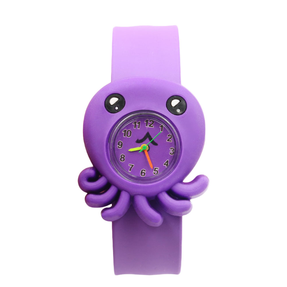 65D1-Cartoon-Unisex-Slap-Snap-On-Silicone-Quartz-Wrist-Watch-Christmas-Gift