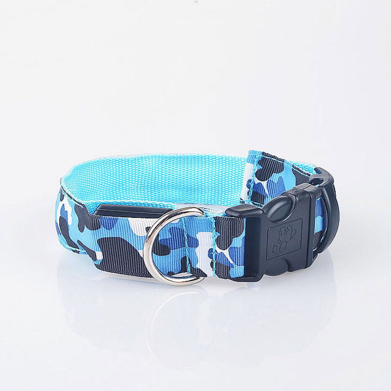 BDA4-Puppy-Dog-Collars-Necklace-Nylon-Band-Camouflage-With-Buckle-Pets-Supply