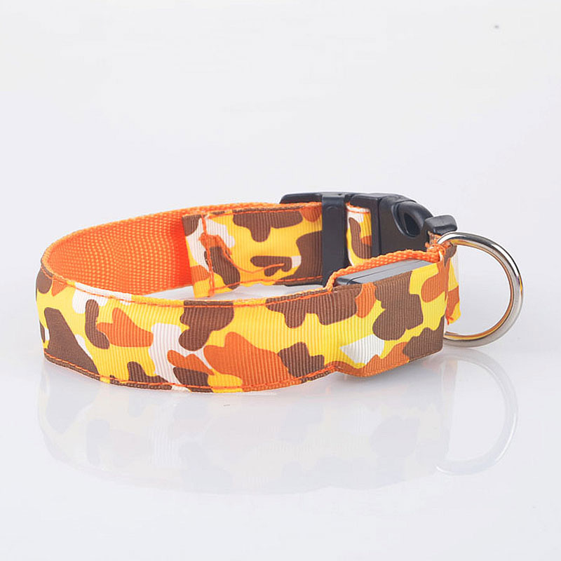 9CEE-Puppy-Dog-Collars-Necklace-Nylon-Band-Camouflage-With-Buckle-Pets-Supply