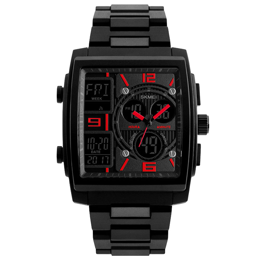 SKMEI-Luxury-Military-LED-Analog-Digital-Wrist-Watches-Men-Sport-Watch-5-ATM thumbnail 6