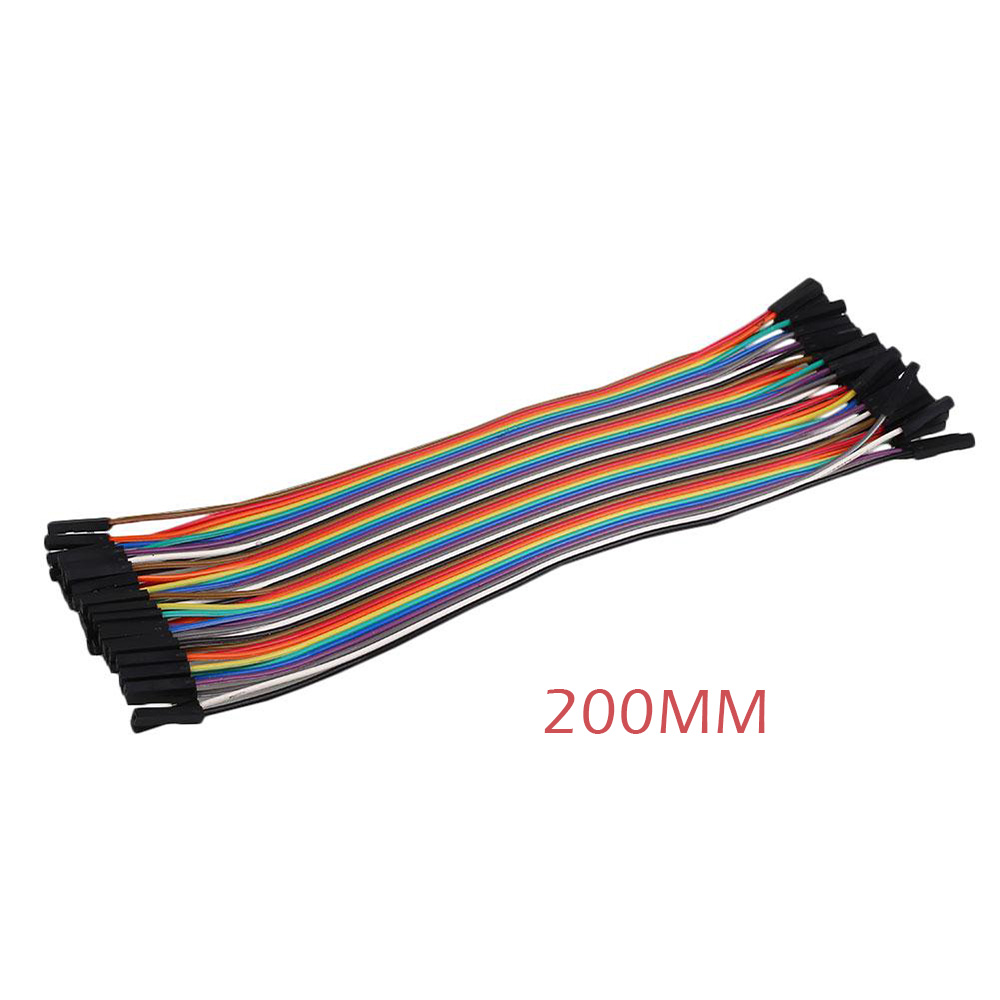 5BD8-40pc-Dupont-Jump-Female-Female-Jumper-Ribbon-Cable-2-54mm-For-Arduino-New