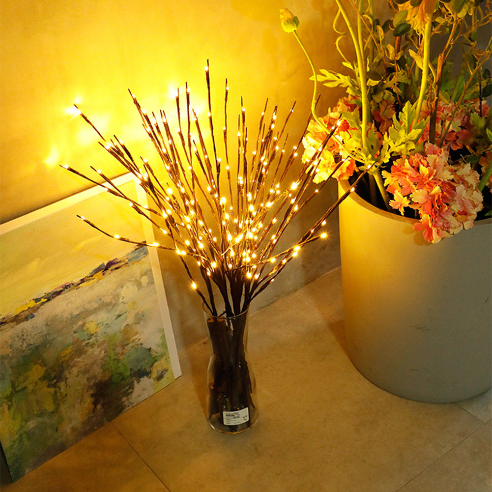 Lighted Twigs Home Decorating: Plug In Christmas Twig Branch Decoration With LED Fairy