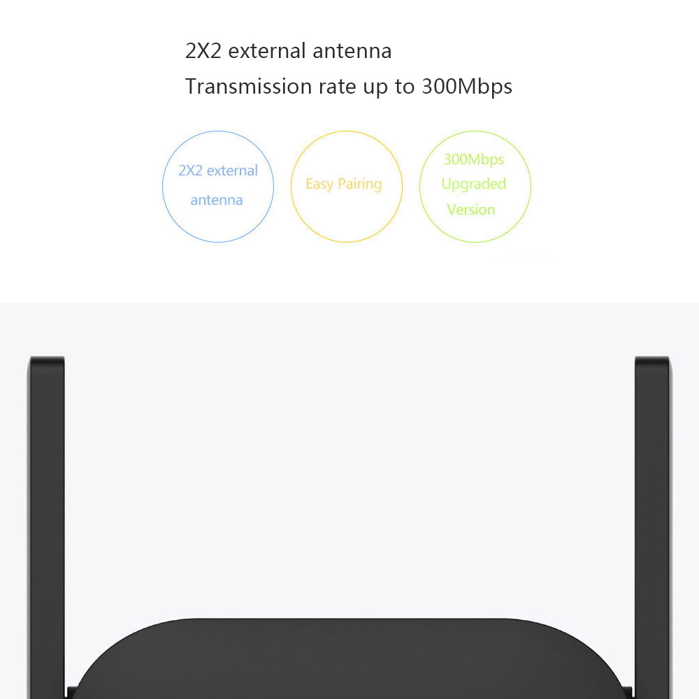 Details about E0B9 2 Antenna Wifi Signal Booster Play Games Home 300Mbps R03