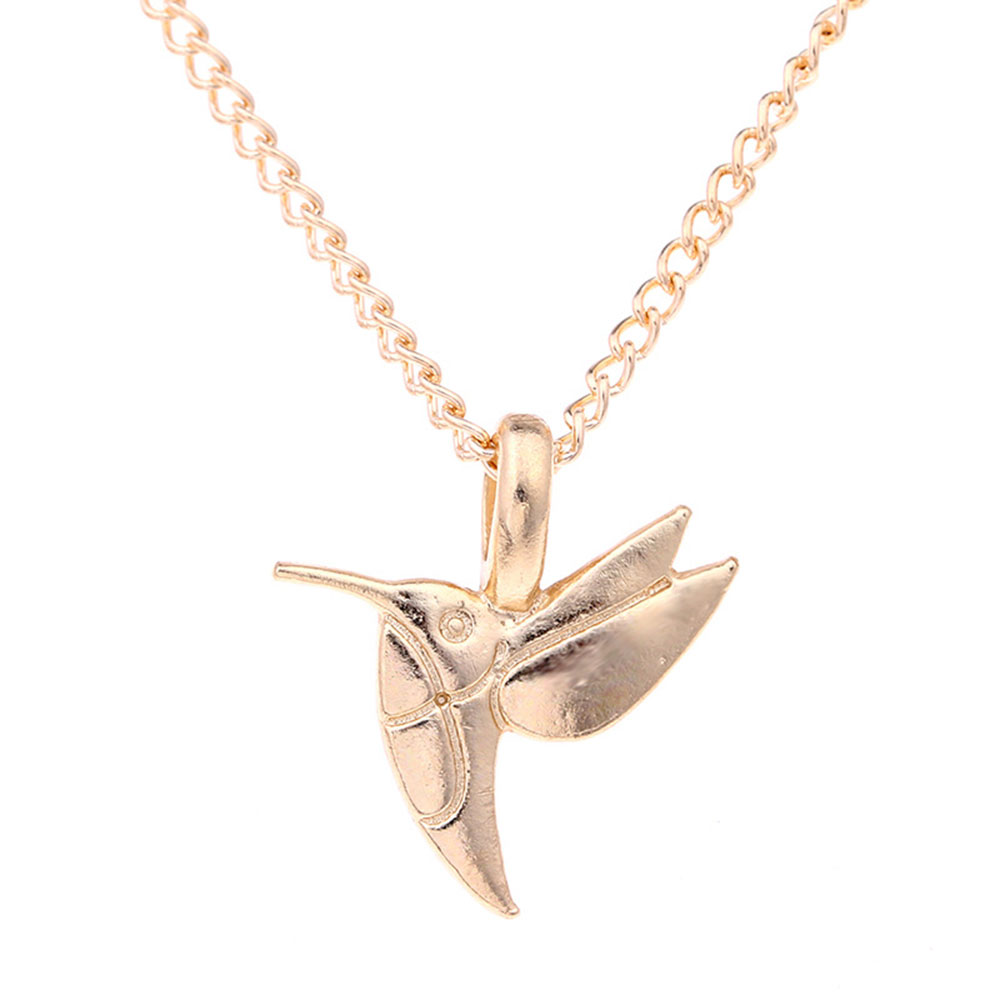 Bird shapes pendant necklace gold color personalized jewelry for 2 bird shapes pendant mozeypictures Image collections