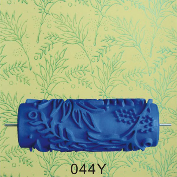 15cm Empaistic Pattern Blue Rubber Painting Roller Machine Wall ...