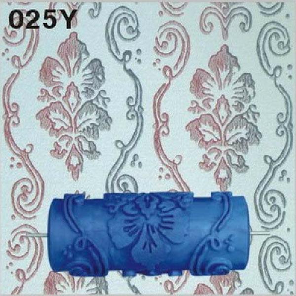 Details about 15cm Empaistic Pattern Blue Rubber Painting Paint Roller  Decoration Decor