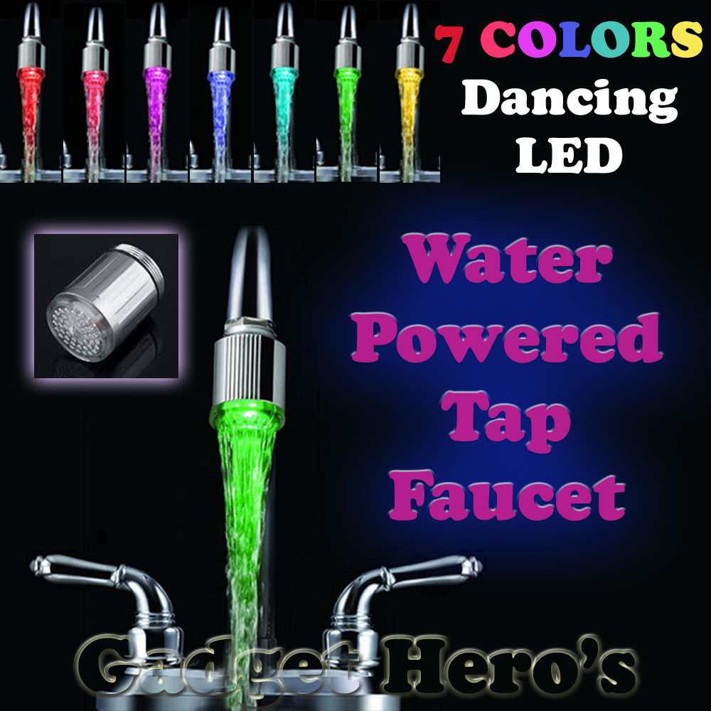 Elegant LED Water Faucet Stream Light 7 Colors Changing Tap Head ...