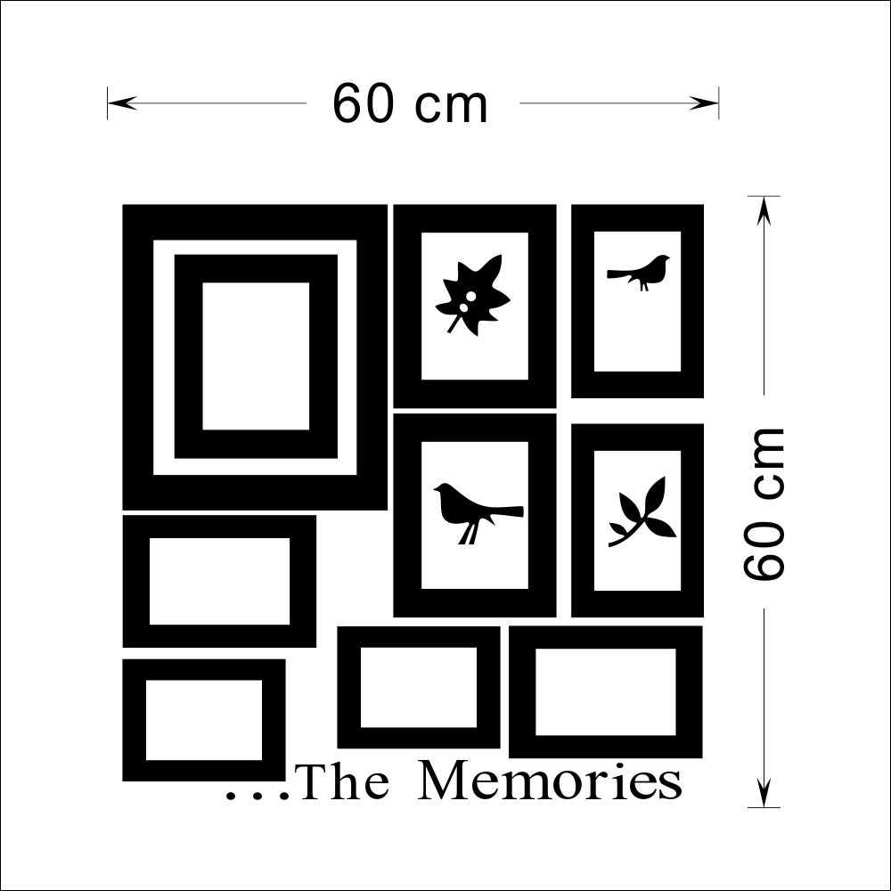 10x Picture Photo Frame Set Wall Mural Black Wedding Frames Sticker ...