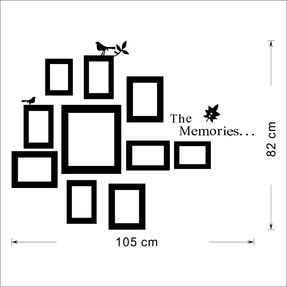 10x Picture Photo Frame Wall Mural Frames Sticker Vinyl Decal Home ...