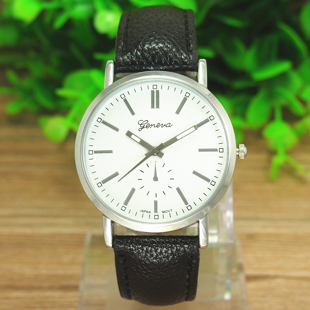 DC1E-Men-039-s-Simple-Quartz-Analog-Dial-Sport-Wrist-Watch-Leather-Strap-Bracelet