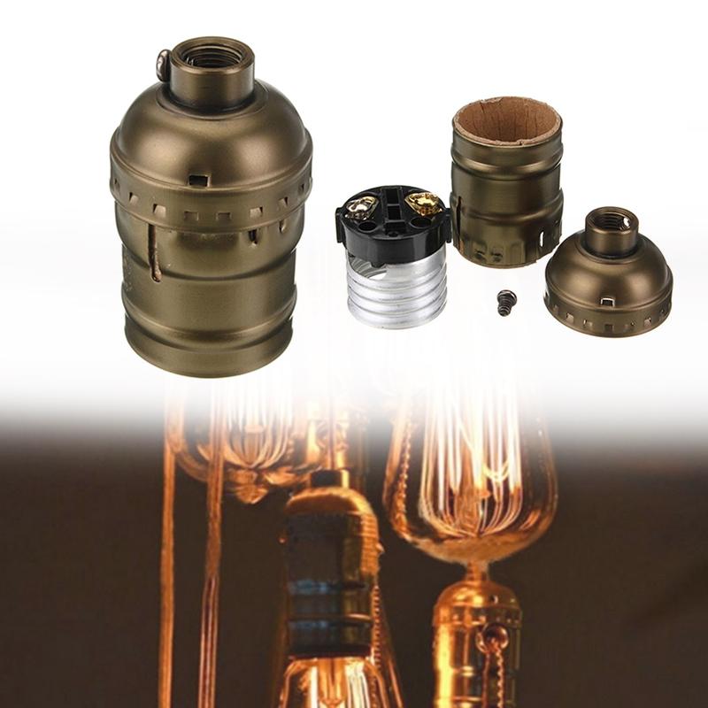 4077-E27-Edison-Vintage-Retro-Antique-Pendant-Lamp-Holder-Screw-Without-Switch