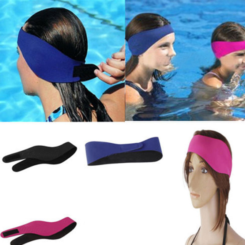 Swimming Ear Protection Head Bands Comfortable And Light Weight With Loop Tape Fastener For Adjule Great Protecting Ears While Or