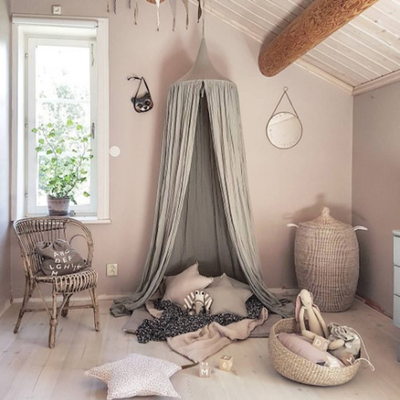 Hanging Ring In Center. Round Dome Bed Canopy, Beautiful And Functional.  Decorate Childrenu0027s Room. For A Little Girls Or Boys Room Or A Bedroom  Makeover