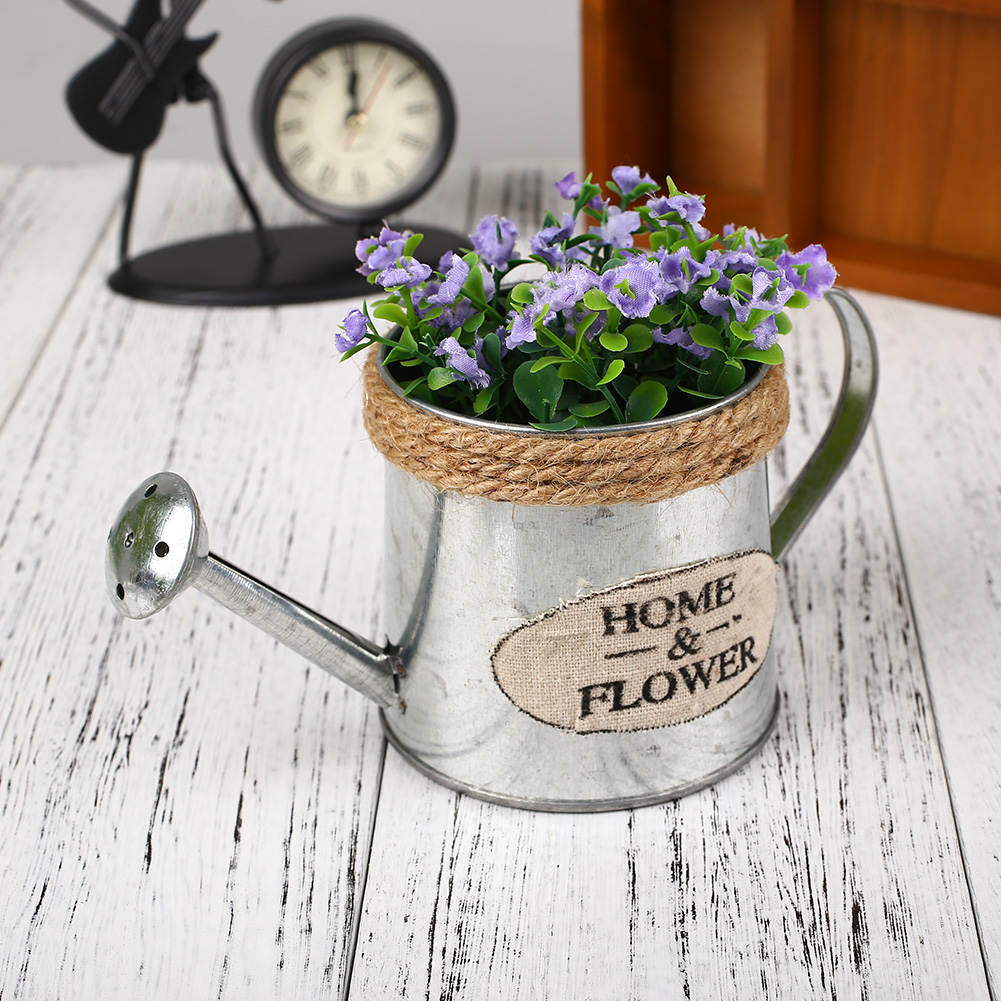 DCC8-Vintage-Iron-Bucket-Flower-Pot-Plant-Basket-Pastoral-Style-Crafts-Wall