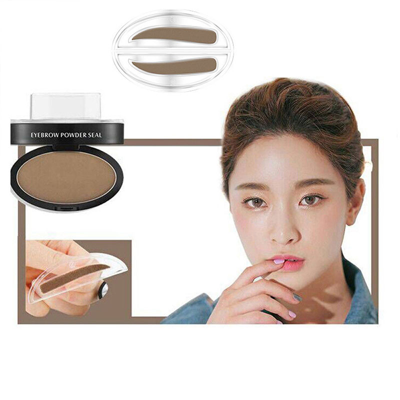 Hot Natural Eyebrow Powder Makeup Brow Stamp Palette Delicated