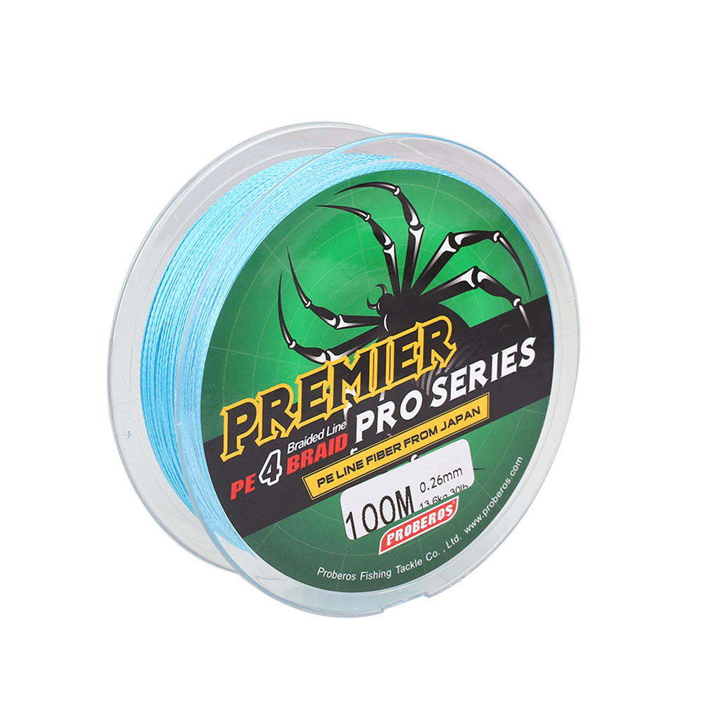F04E-Spiderwire-Braid-Fishing-Line-Dyneema-PE-30Lb-100m-Spool-Fishing-Tools