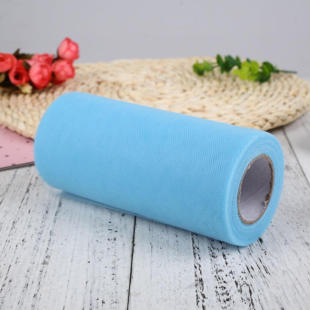 20B3-6x25Y-Fabric-Roll-Organza-Sheer-Draping-DIY-Wedding-Party-Chair-Bow-Decor
