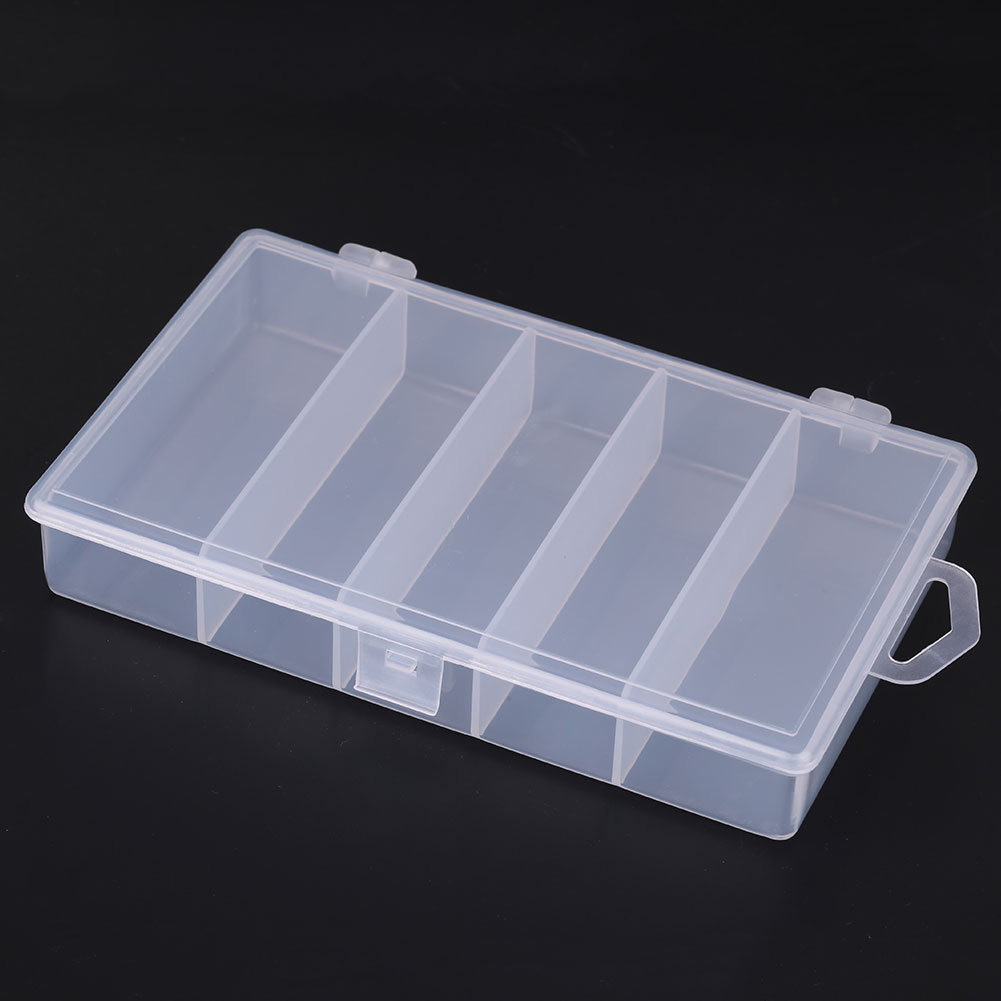 2895-Fishing-Lure-Bait-Tackle-Box-5-Compartment-Fish-Storage-Case-Container