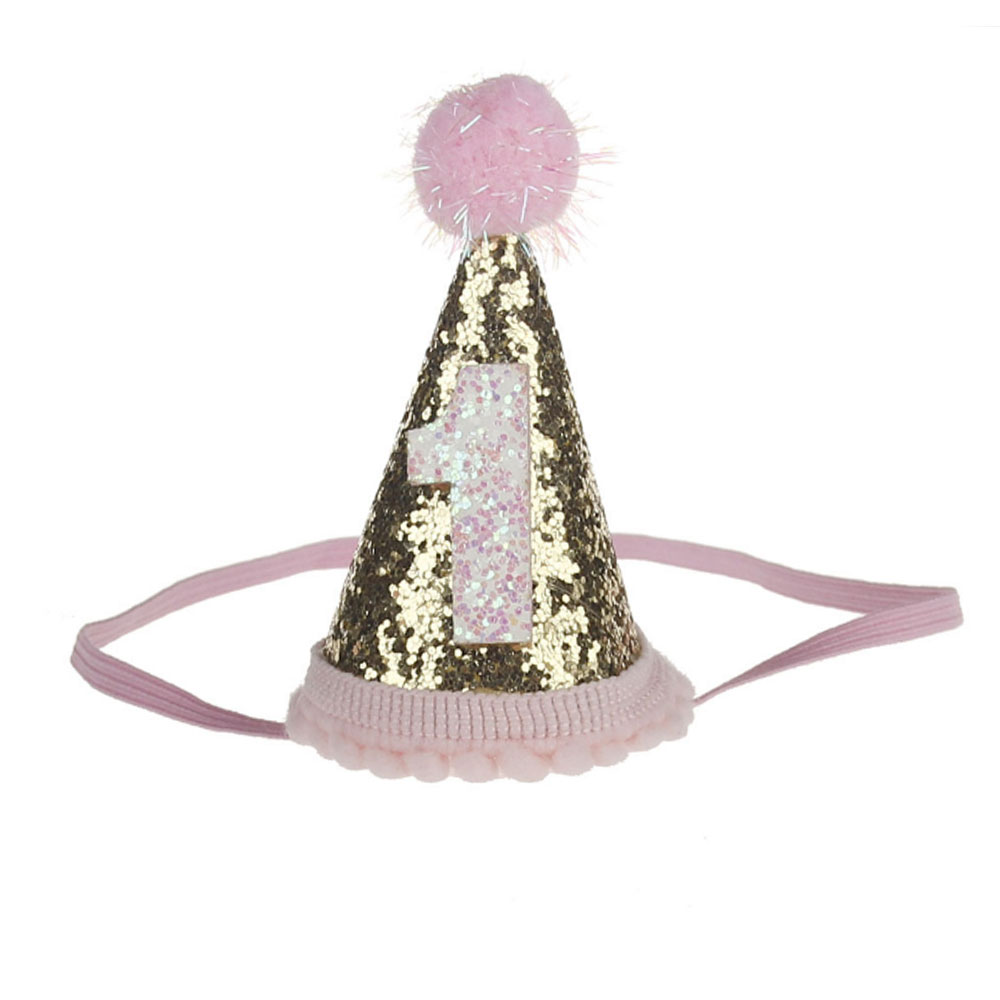 79AB-Infant-Baby-Birthday-Cap-Hat-Cute-Boys-Girls-Party-3rd-Sequined-Lovely