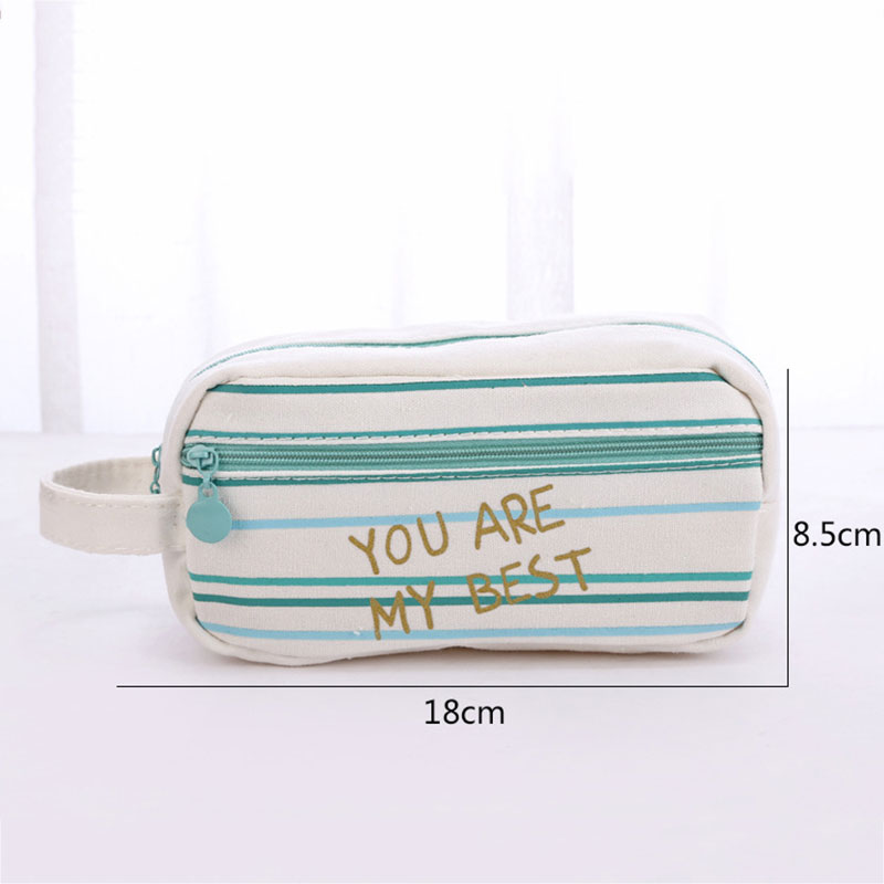 7D4A-Portable-Green-Canvas-Pencil-Case-Large-Capacity-Waterproof-Stationery-Bag