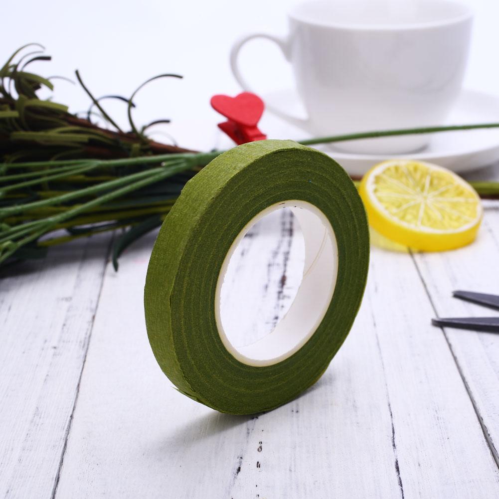 360B-Wrapped-Florist-Floral-Stem-Tape-Green-Plants-Flower-Wire-Wrap-Decor-8M