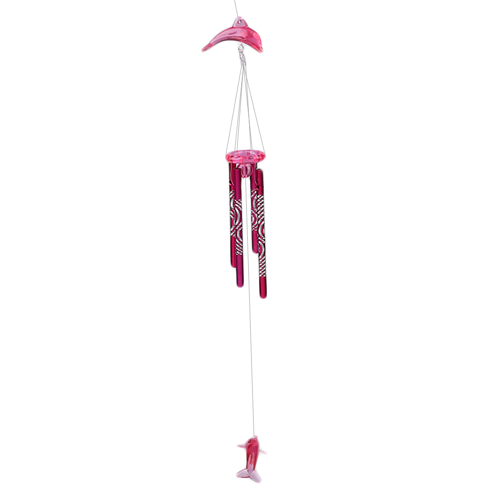 13A1-Dolphin-Wind-Chime-Bell-Metal-Tubes-Home-Hanging-Decor-Blessing-Good-Luck