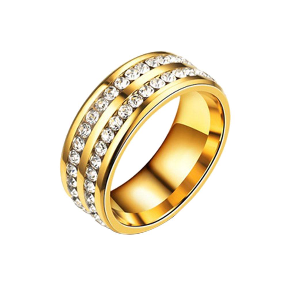 2163-Double-Layer-Rhinestone-Diamond-Titanium-Steel-Finger-Rings-Fashion-Gift
