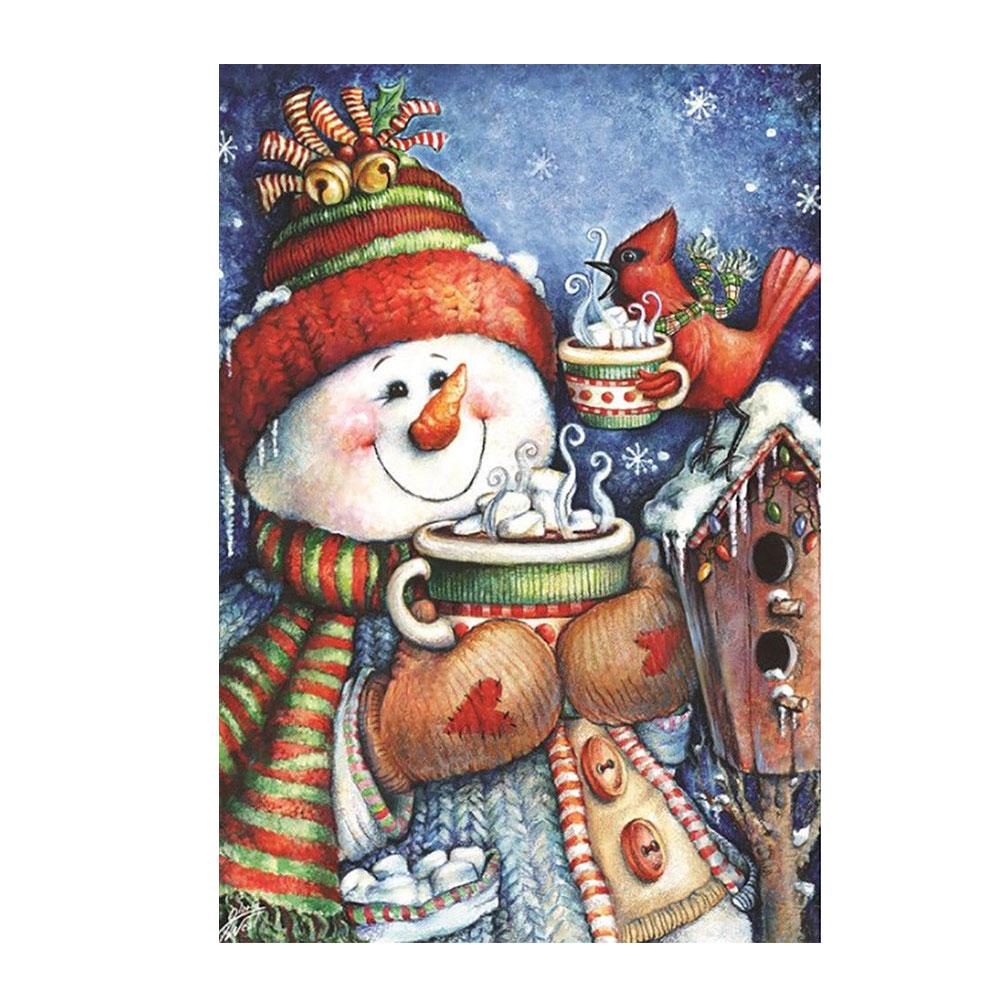 E849-Friends-Garden-Flag-Snowman-Winter-Seasonal-Banner-Merry-Xmas-Ornament