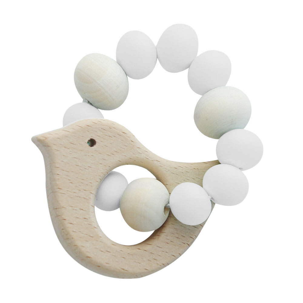 C346-Toy-Bird-Infant-Teether-Lovely-Silicone-4-Colors-Gifts-Round-Wood-Toddler