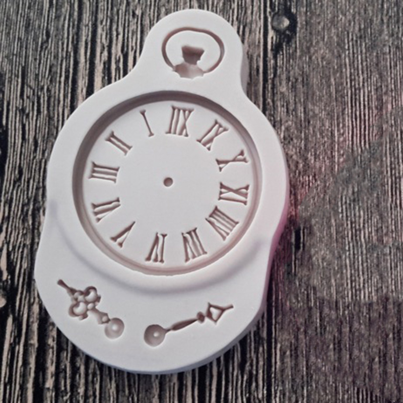 BCC4-1PCS-DIY-Cake-Lollipop-Cake-Mould-Chocolate-Clock-Wall-Clock